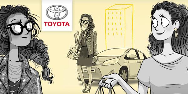 illustration Toyota journal des femmes