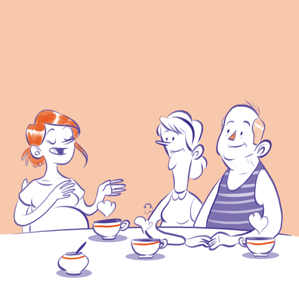 tea and toast illustration